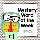 Mystery Word of the Week to Boost Vocabulary, Set #1, Weeks 1-5
