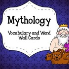 Mythology Vocabulary or Word Wall Cards