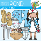 N Set - Clipart for Alphabet Teaching Resources