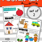 NEEDS and WANTS Posters: Social Studies (Kindergarten & Fi