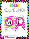 NEON Bilingual Welcome Banner FREEBIE (In Spanish, too!)