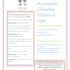 NEW! Book Unit:  Animals Charles Darwin Saw by Sandra Markle