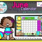 NEW!! MIMIO Calendar Math- June (English)