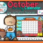 NEW!! MIMIO Calendar Math- October (English)