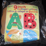 """NEW Roylco 9"""" Collage Alphabet Letters with Idea Guide"""