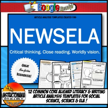 NEWSELA Current Event Analysis Template Common Core ELA, S