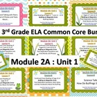 NYS 3rd Grade ELA Common Core Module 2A Unit 1 Bundle