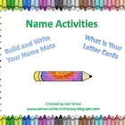 Name Activities: Build and Write Your Name Mats and What's