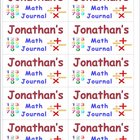 Name Labels for Math Journals-Type Comic Sans Font