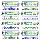 Name Labels for Science Journals-Schoolhouse Font Only - T