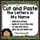Name Recognition - Match my Letters (Set One) - EDITABLE