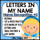 Name Recognition Worksheets - Letter Sort (Set Two) EDITABLE