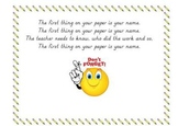 Name on Your Paper