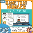 Name that Number Task Cards: 24 challenging number logic problems