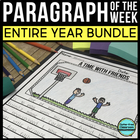 Narrative & Opinion Paragraph of the Week Bundle: 72 Commo