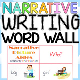 Narrative Word Wall - Picture Aides for Story Writing - 16 pages