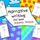 Narrative writing Season themed mini books {CCSS aligned}