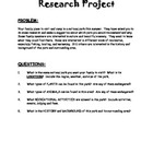 National Parks Research Paper Packet