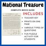 National Treasure I (Teacher Created Movie Guide)