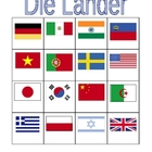 Nations in German Bingo game