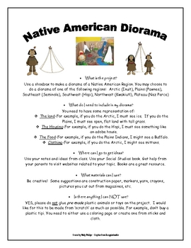 Native American Diorama Project