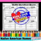 Native American Homes Poster Activity
