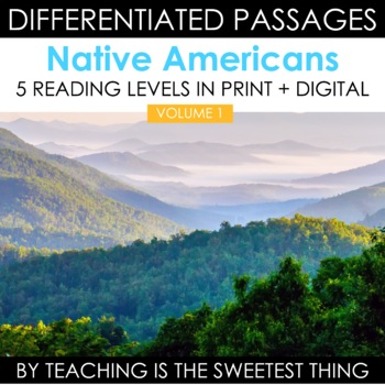 {Native Americans} Nonfiction Leveled Texts, Common Core Questions, Key