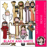 Nativity String Beans 2014 by Melonheadz black and white