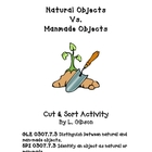 Natural Vs. Manmade Objects: Cut and Sort