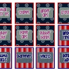 Nautical Teacher Toolbox Labels