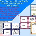 Nautical Theme Grade Four CCSS Complete Vocabulary Program