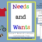 Needs & Wants Social Studies SmartBoard Lesson for Primary Grades