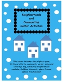 Neighborhoods and Communities activity packet!