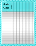 Neon Chevron Grade Sheet Series