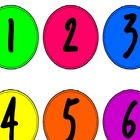 Neon Colored Number Circles