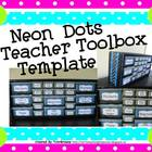 Neon Dots Teacher Toolbox Template - Editable