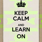"Neon Tribal ""Keep Calm and Learn On"" Printable"