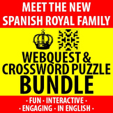 Spanish - New Spanish Royal Family - Webquest and Crosswor