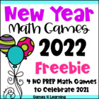 New Year Math Games Freebie