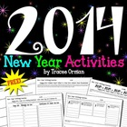 New Year Writing Activities for 2014 *Free*