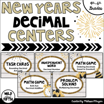 New Years Decimal Centers Grades 4-6