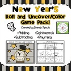 New Year's Game Pack: Adding, Subtracting, Rhyming, Sight Words