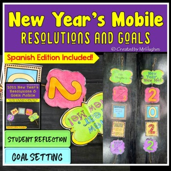 New Year's Resolutions and Goals Mobile {FREEBIE}