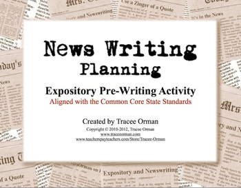 News Writing Story Planning Handout Pre-Interview
