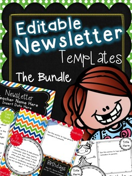 Newsletter {Editable Bundle}