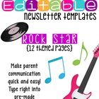 Newsletter Templates (12 included): Rock Star Theme