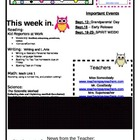Newsletter with Colorful Owls and Polka Dots