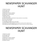 Newspaper Scavenger Hunt2
