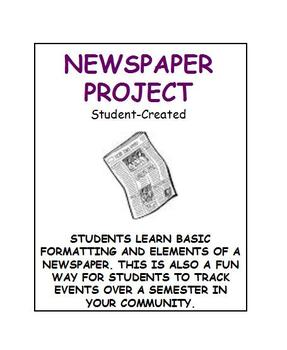 Newspaper project outline: Student-created newspaper