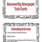 Newsworthy Newspaper Task Cards